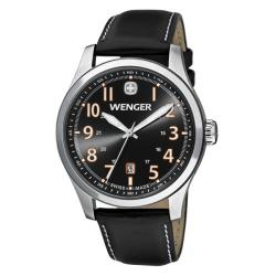 Wenger Men's TerraGraph Black Dial Black Leather Watch - 0541.104
