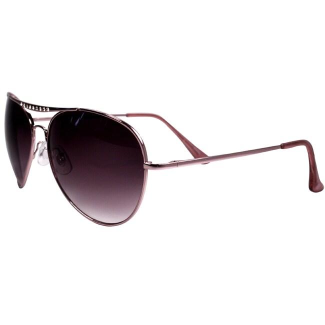 Hotties Women's HT-E764 Rose Pink Aviator Sunglasses