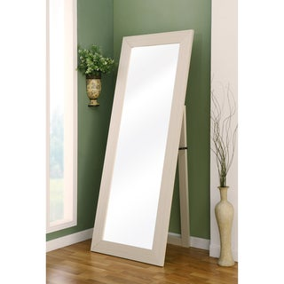 Furniture of America Emily Ivory Full Body Cheval Mirror
