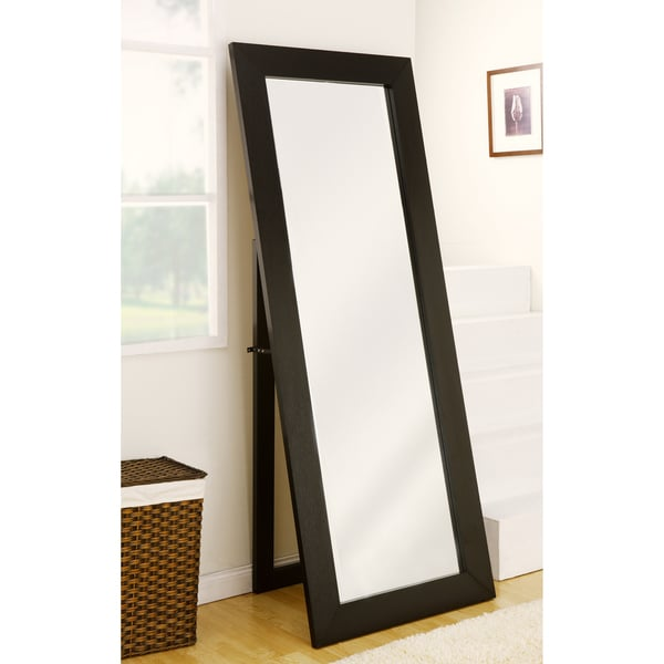 Furniture of America Emilia Black Finish Full Body Mirror