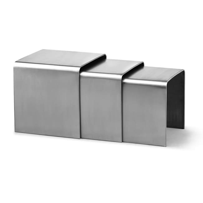 Aura Stainless Steel Nesting Table