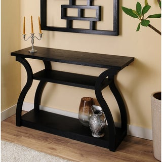 Sara Black Finish Console Table