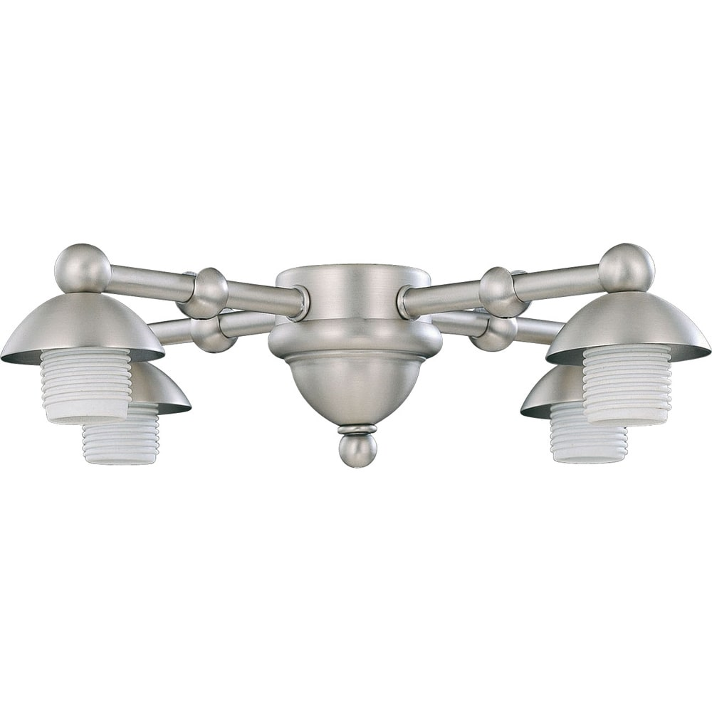 Four Light Pewter Ceiling Fan Light Kit