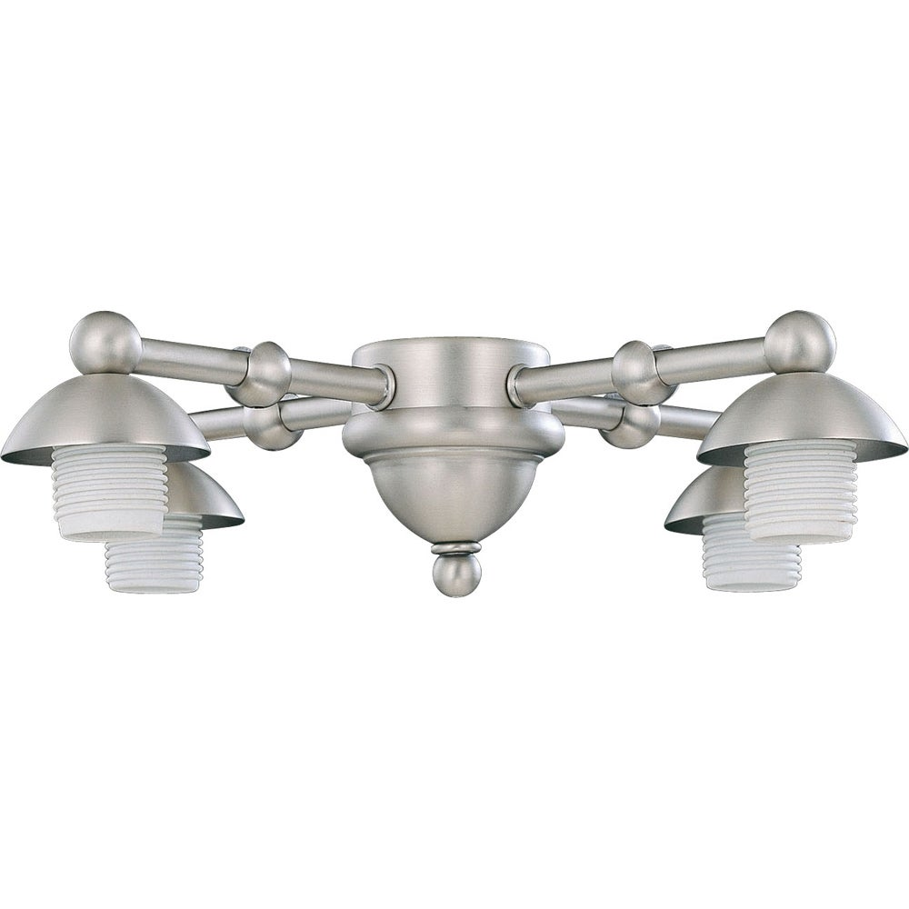 Four Light Pewter Ceiling Fan Light Kit - 14488384 - Overstock.com ...