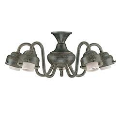 Five Light Aged Pecan Ceiling Fan Light Kit