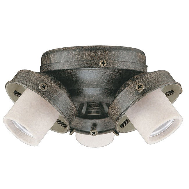 Three-Light 60-Watt Aged Pecan Ceiling Fan Light Kit
