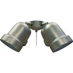 Pewter-Finish Four-Light Ceiling Fan Light Kit