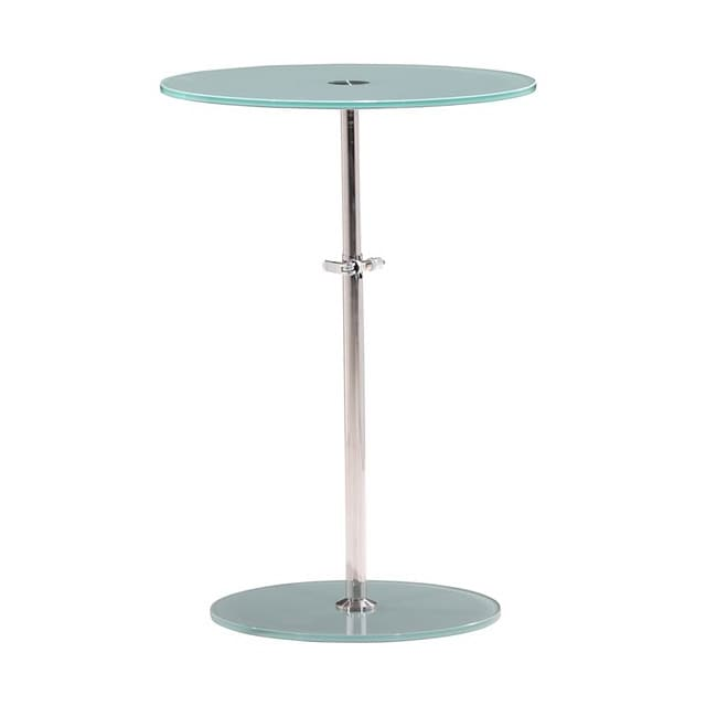 Radical Frosted Glass Side Table