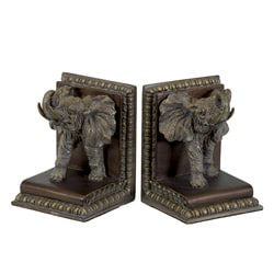 Resin Elephant Bookend Set