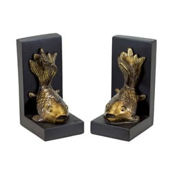Resin Koi Bookend Set