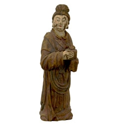 Resin Standing Monk Statue