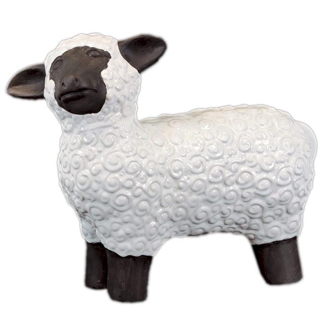 White Large Ceramic Sheep