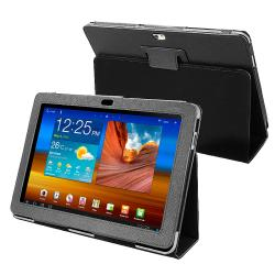 BasAcc Black Leather Case for Samsung Galaxy Tab P7500 10.1-inch