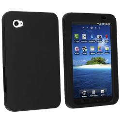 BasAcc Black Silicone Skin Case for Samsung Galaxy Tab P1000 7.0-inch