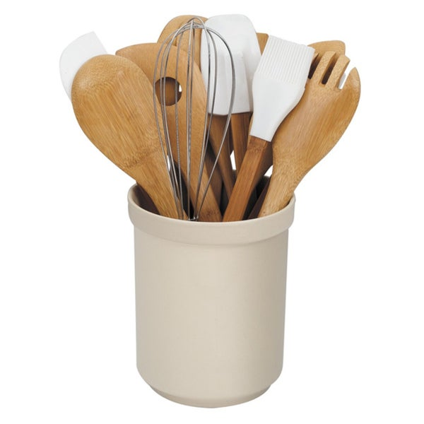 Cook N Home 15-piece Bamboo Tools with Tub