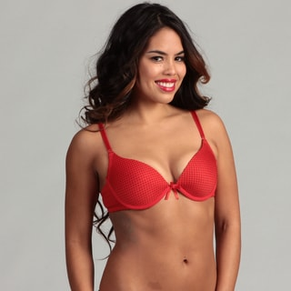 24/7 Frenzy Red/ Black Polka Dot T-shirt Bra