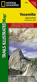 National Geographic Trails Illustrated Map Yosemite National Park California, USA (Sheet map, folded)
