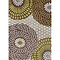 Hand-tufted Alliyah Brown Wool Rug (8' x 10')