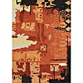 Handmade Alliyah Orange Water Color Wool Rug (8' x 10')