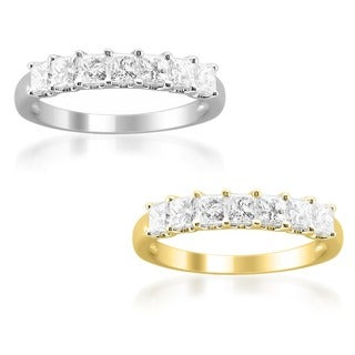 14k Gold 1ct TDW Princess Diamond Wedding Band (H-I, I1-I2)