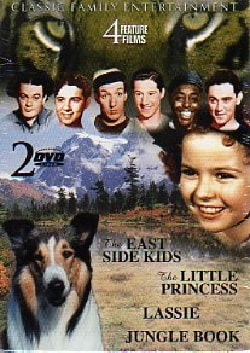 Lassie/Shirley Temple/East Side Kids/Jungle Book (DVD)