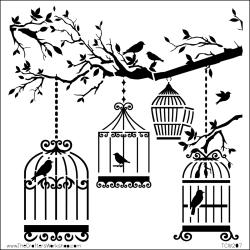 "Crafter's Workshop Templates 12""X12""-Birds Of A Feather"