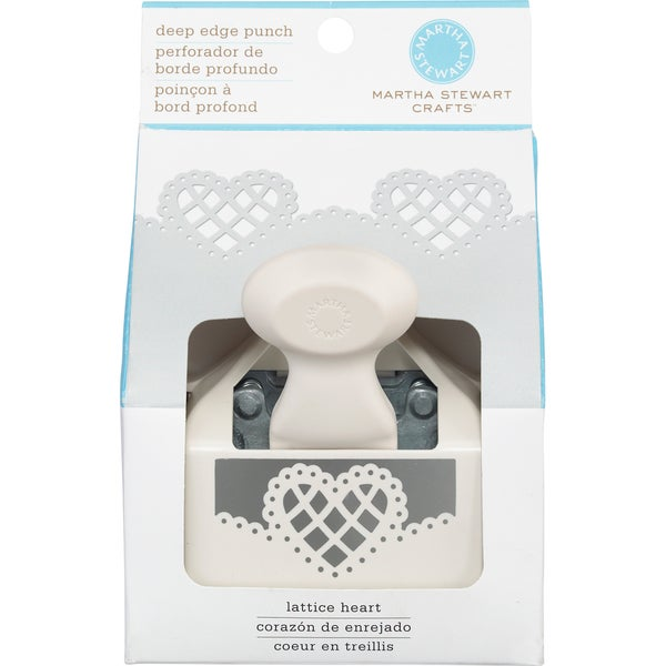 EK Success Martha Stewart 'Lattice Heart' Deep-edge Paper Punch