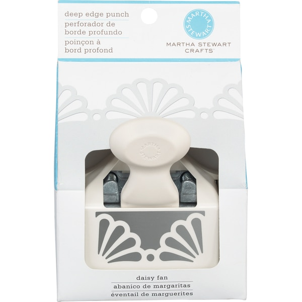 Martha Stewart Deep Edge Punch-Daisy Fan