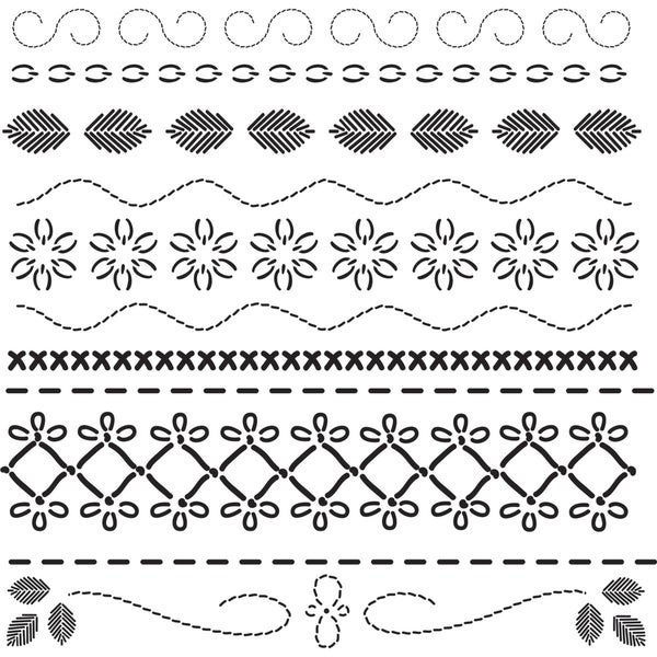 """Crafter's Workshop Templates 12""""X12""""-Deco Stitches"""