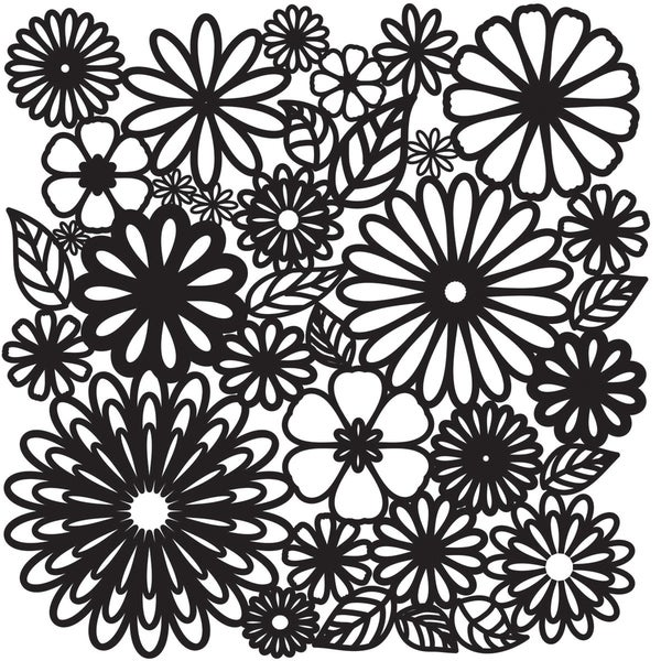 """Crafter's Workshop Templates 12""""X12""""-Flower Frenzy"""