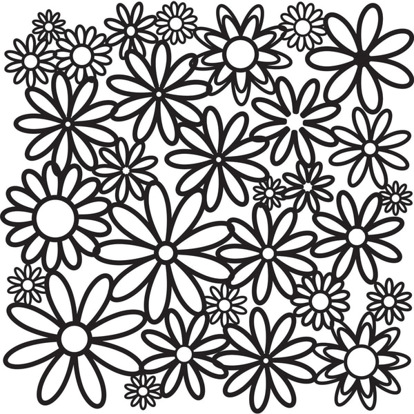 "Crafter's Workshop Templates 12""X12""-Daisy Cluster"