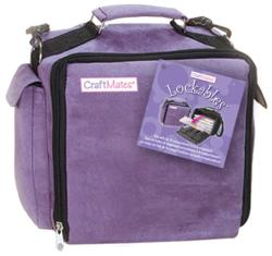 Craft Mates Lockables Organizer Case-Purple Ultrasuede
