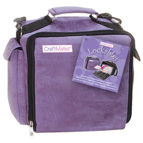 Craft Mates Lockables Organizer Case-Purple Ultrasuede