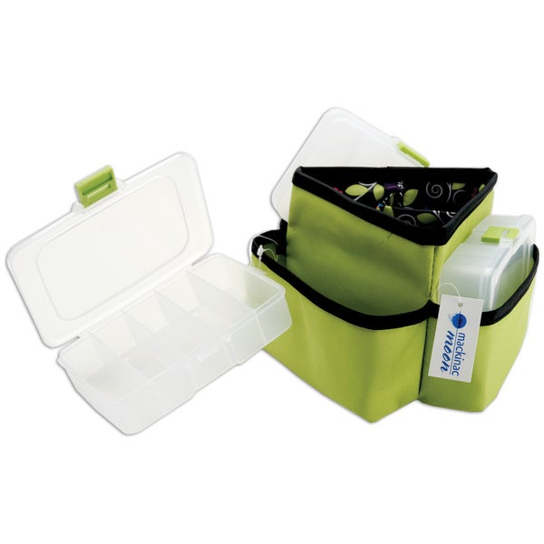 Mackinac Moon Triangle Storage Spinner W/3 Plastic Cases-Green