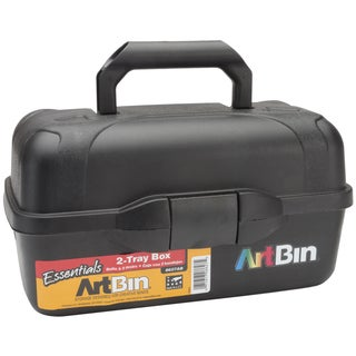 "ArtBin Essentials 2 Tray Art Tote-13.5""X8.5""X7.5"" Black"