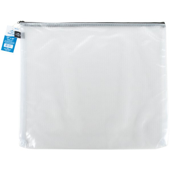 "Mesh Bag W/Zipper 15""X18""-Clear"