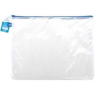 "Blue Hills Studio Mesh Bag W/Zipper 12""X16""-Clear"