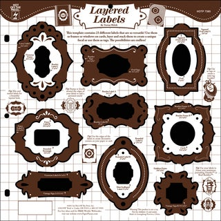 """Hot Off The Press Templates 12""""X12""""-Layered Labels"""