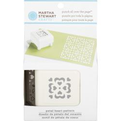 Martha Stewart Punch All Over The Page Pattern Punch-Petal Heart