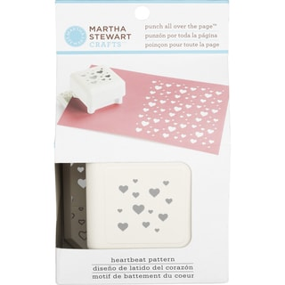 Martha Stewart Punch All Over The Page Pattern Punch-Heartbeat