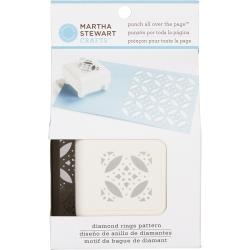Martha Stewart Punch All Over The Page Pattern Punch-Diamond Rings