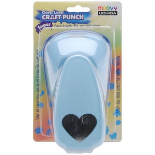 Clever Lever Super Jumbo Craft Punch-Heart