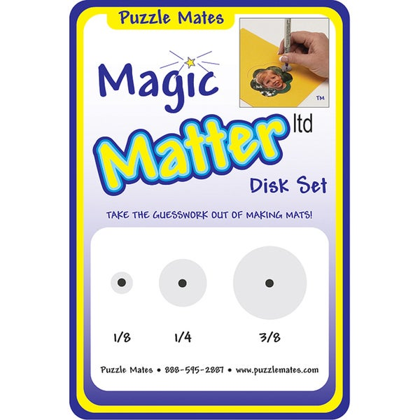 "Magic Matter Disk Set-1/8"", 1/4"", 3/8"""