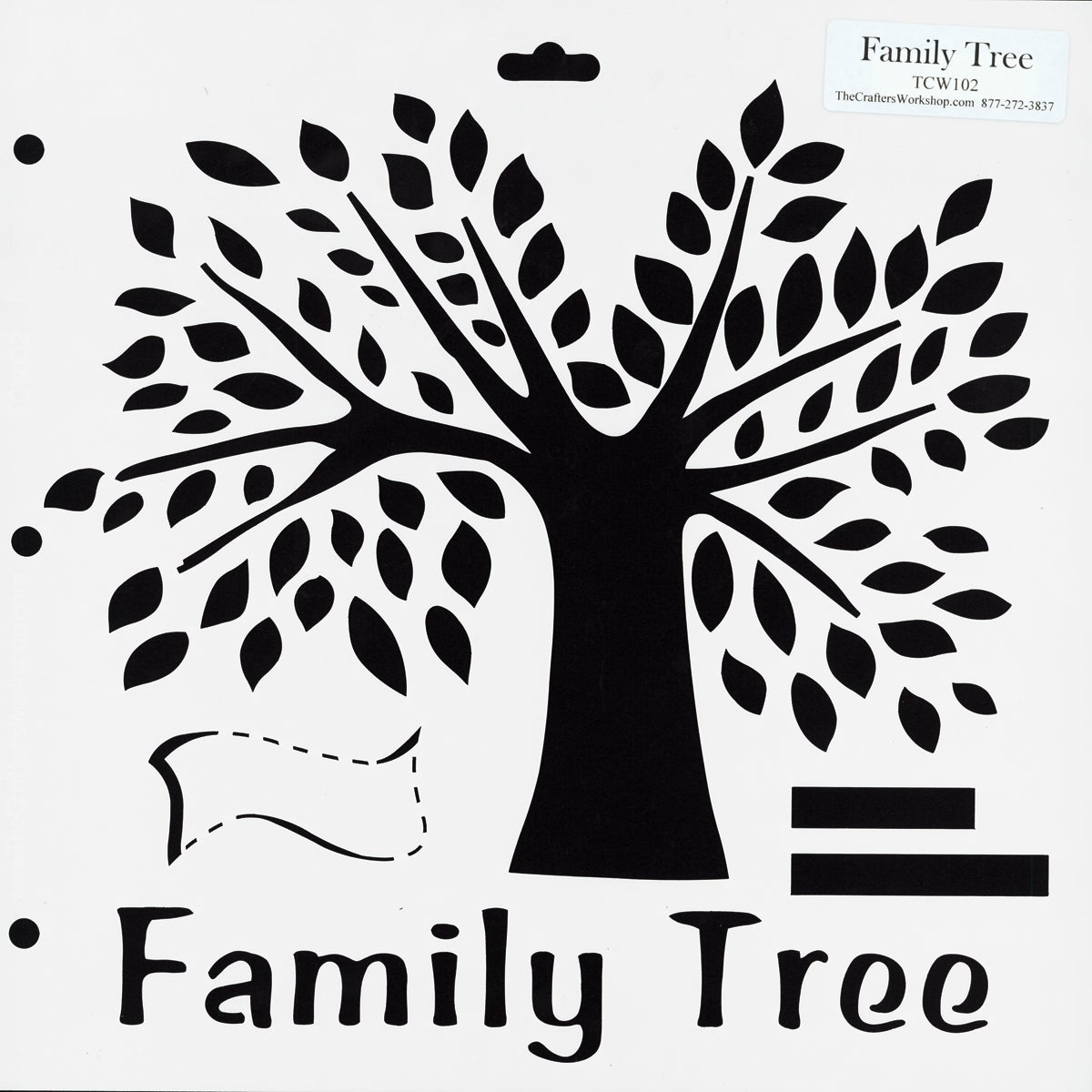 "Crafter's Workshop Templates 12""X12""-Family Tree"