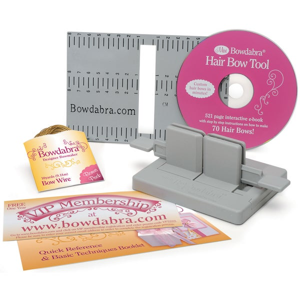 Darice Bowdabra Hair Bow Making Kit for Professional-looking Bows