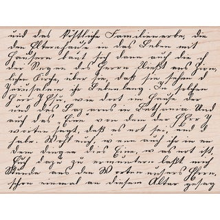 "Hero Arts Mounted Rubber Stamps 4.5""X3.75""-Old Letter Writing"