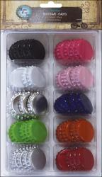 "Vintage Collection Standard Bottle Caps 1"" 50/Pkg-Multi-Pack"
