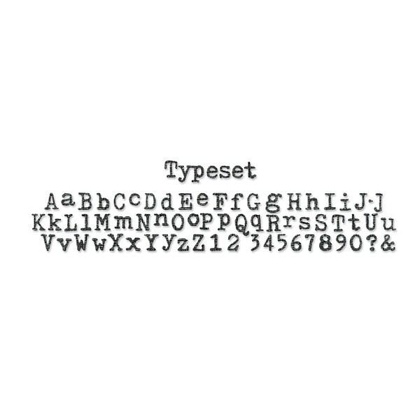 Sizzix Sizzlits Decorative Strip Die By Tim Holtz-Typeset Alphabet