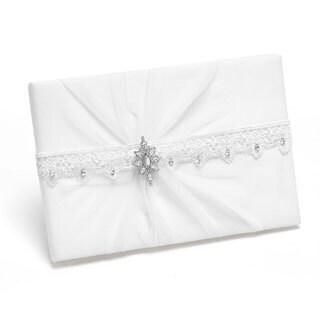White Sparkling Elegance Guest Book