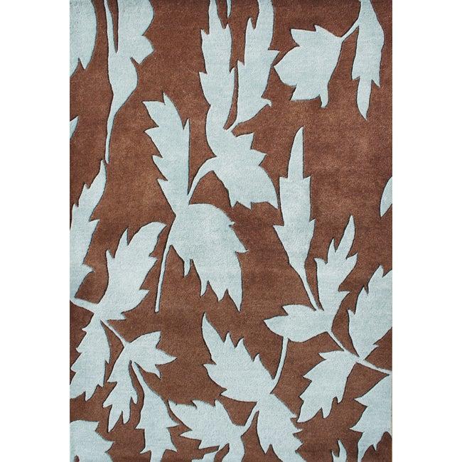 Alliyah Handmade Brown New Zealand Wool Rug (5' x 8')